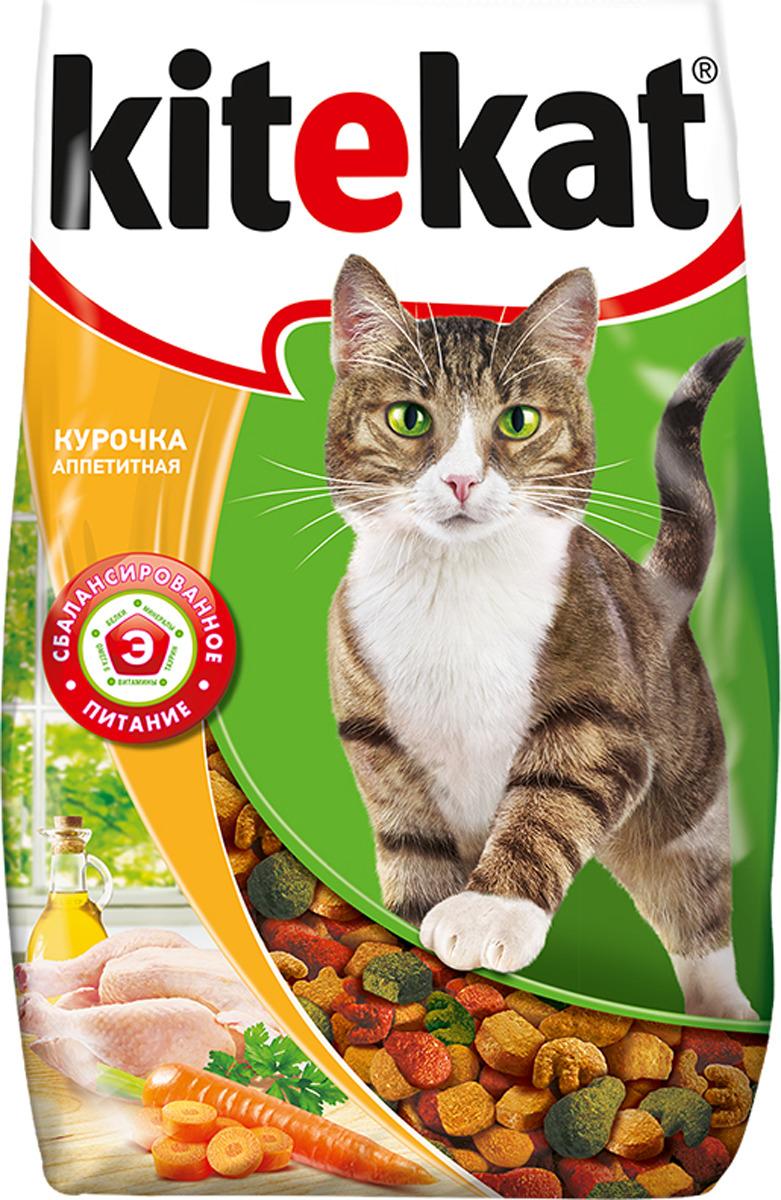 Корм сухой для кошек Kitekat, курочка аппетитная, 800 г сухой корм kitekat телятинка аппетитная для кошек 15кг 10132155