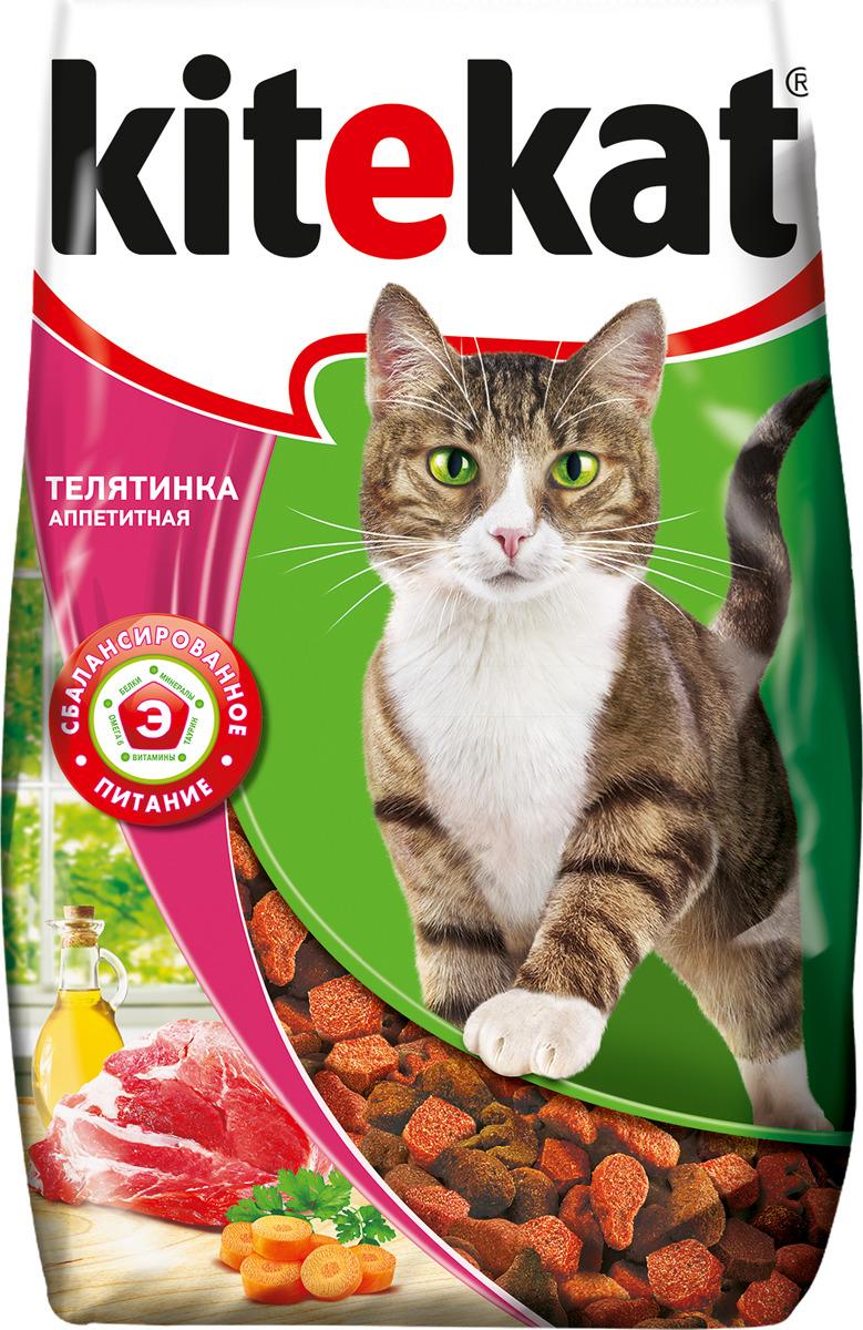Корм сухой для кошек Kitekat, телятина аппетитная, 800 г orthomol osteo витамины и минералы для укрепления костей 30 порций