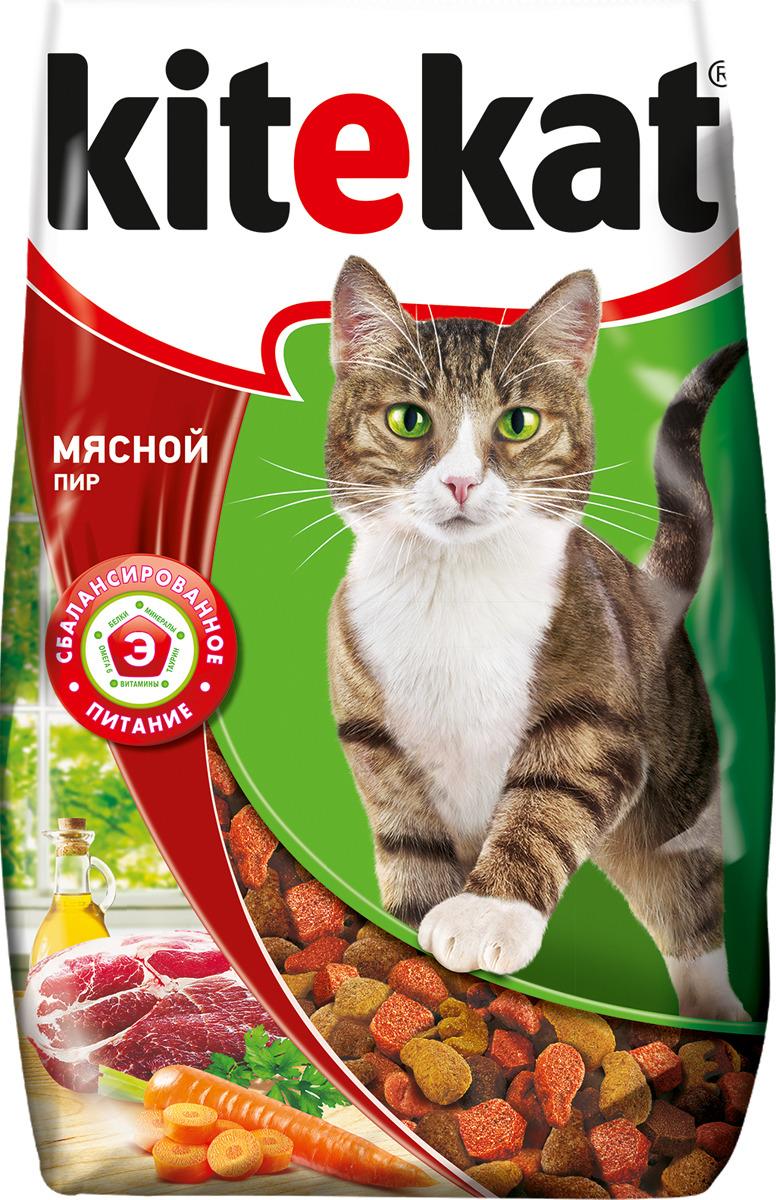 "Корм сухой для кошек ""Kitekat"", мясной пир, 800 г"