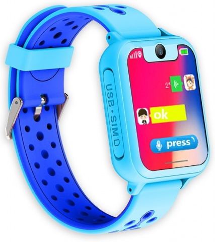 Часы Smart Baby Watch S6 - Голубые детские умные часы smart baby watch i8 тёмно синий