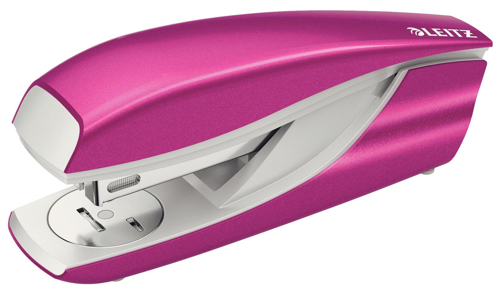 Степлер металлический Leitz NeXXt, 30 листов, розовый металлик, блистер