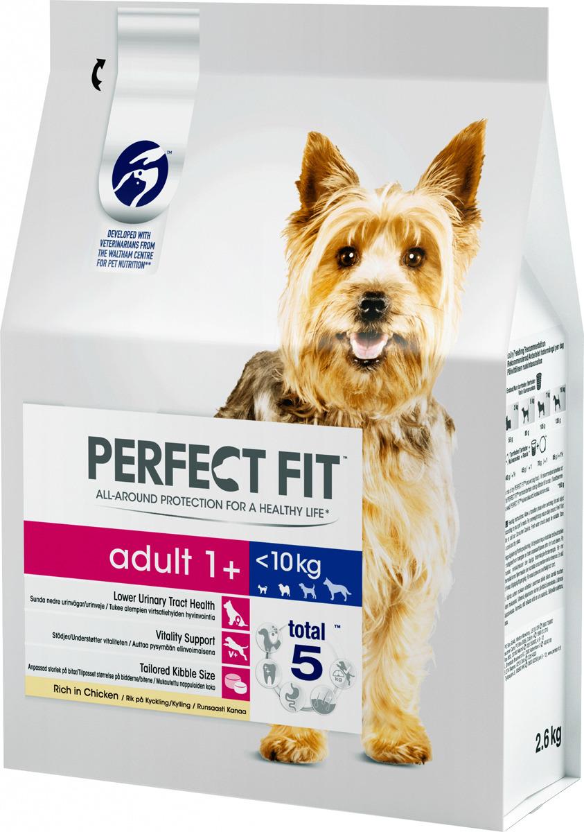 """Корм сухой """"Perfect Fit"""", для взрослых собак от 1 года мелких и миниатюрных пород, с курицей, 2,6 кг"""