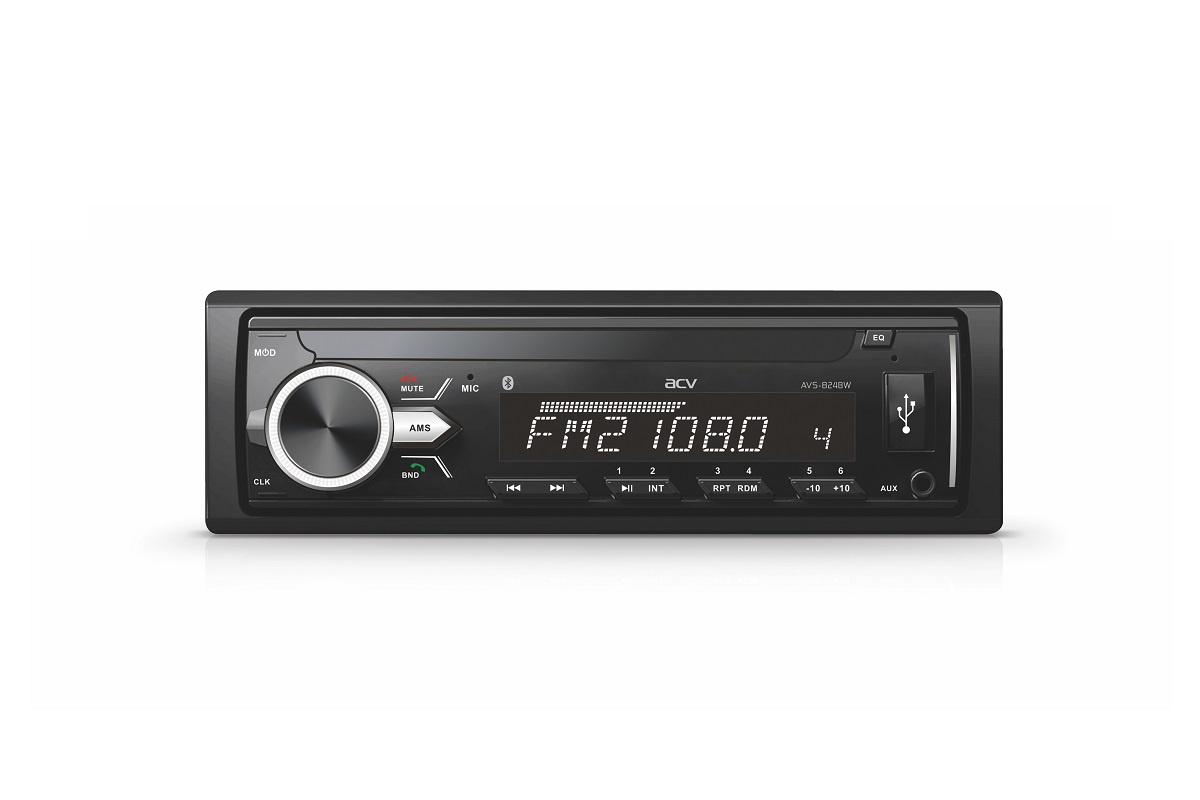 Автомобильный FM/MP3/USB/CD 1DIN ресивер ACV AVS-824BW