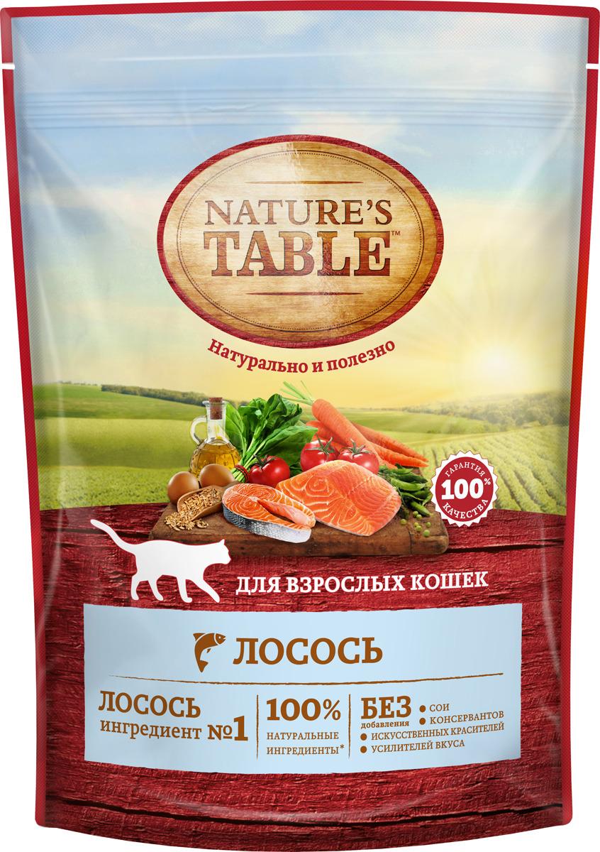 Корм сухой Nature's Table, для кошек, лосось, 190 г корм сухой nature s table для кошек лосось 190 г