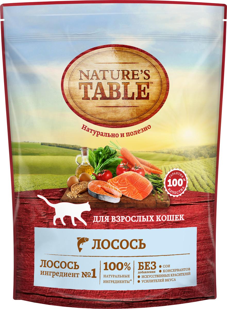 "Корм сухой ""Nature's Table"", для кошек, лосось, 650 г"