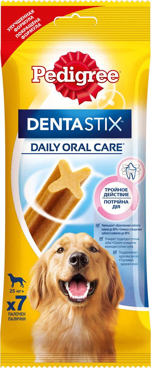 Лакомство по уходу за зубами Pedigree Denta Stix, для собак крупных пород, 270 г лакомство по уходу за зубами pedigree denta stix для собак средних и крупных пород 180 г