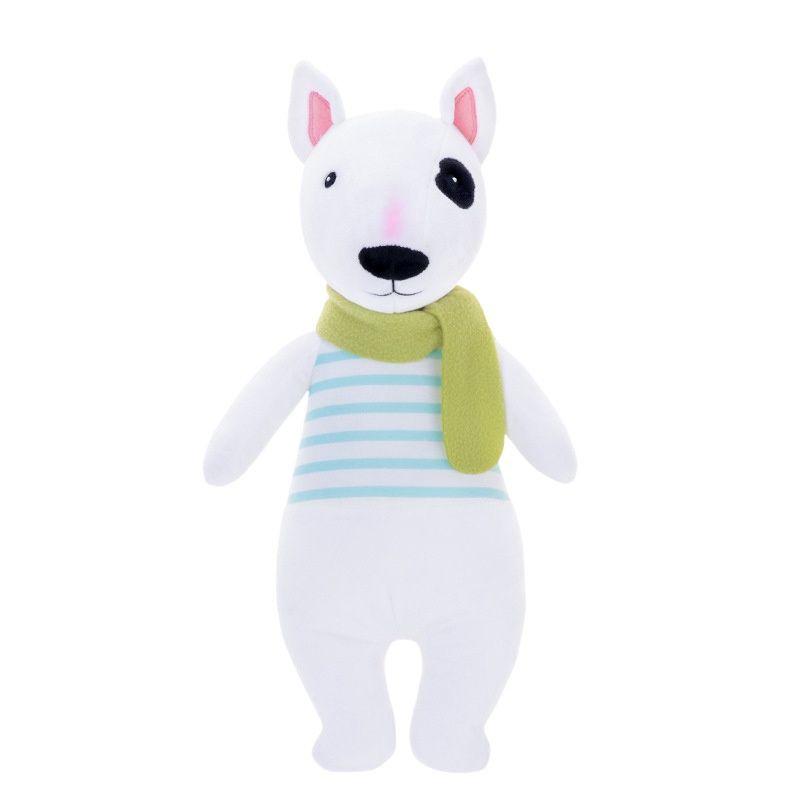 """Бультерьер MeToo """"Mikki"""" с зеленым шарфом 45 см."""