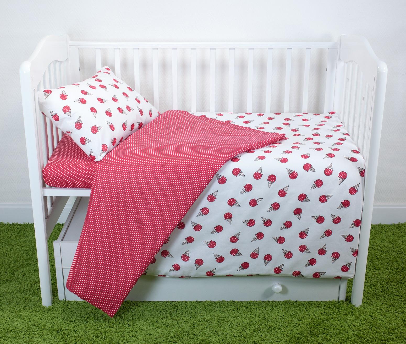 Комплект постельного белья для малышей Magic City Клубничный десерт комплект постельного белья облачко дельфин в детскую кроватку с простынью на резинке 186903