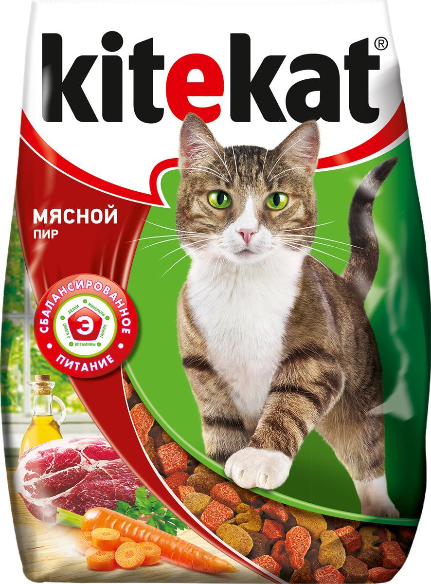 "Корм сухой для кошек ""Kitekat"", мясной пир, 350 г"