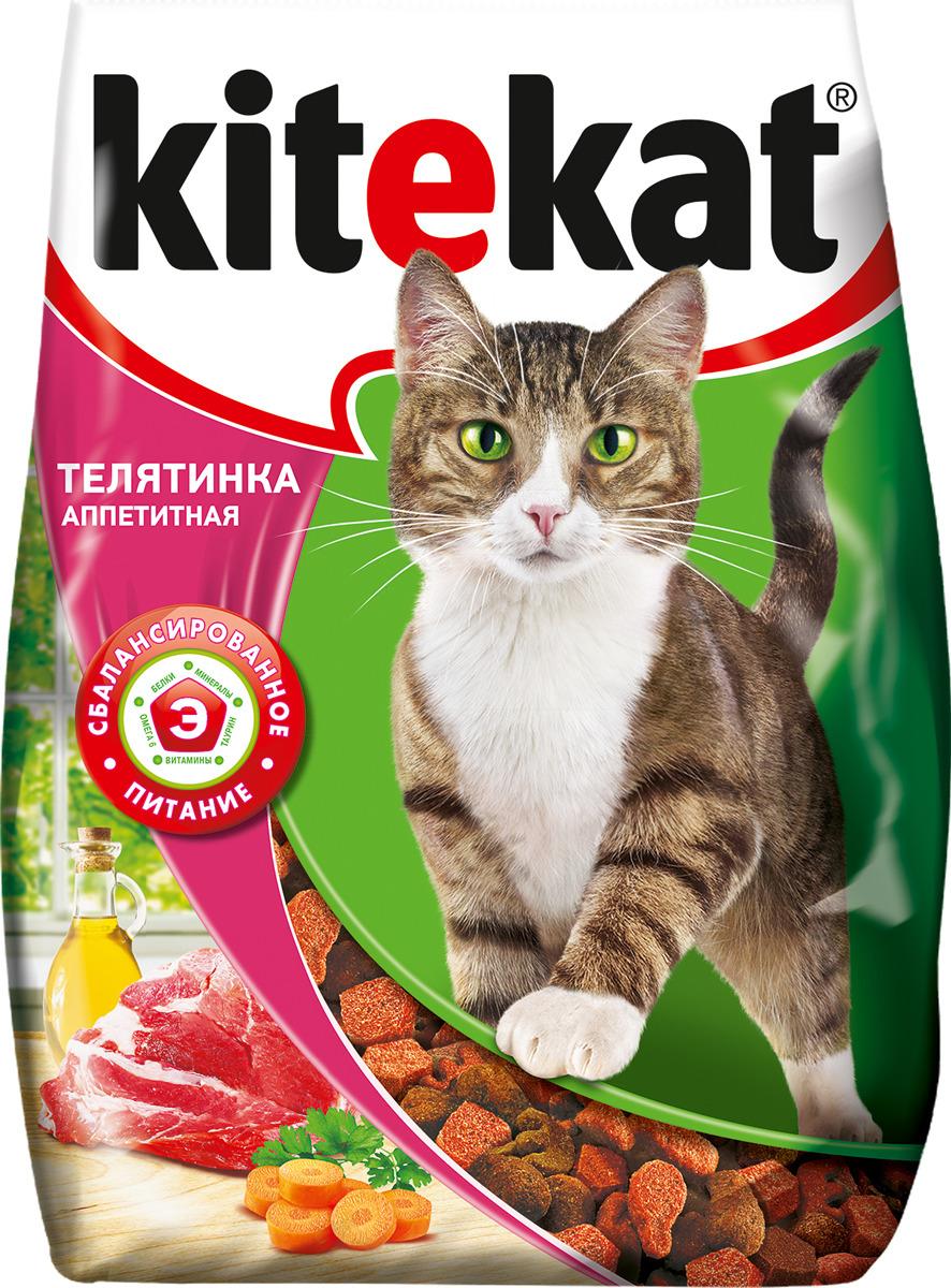 Корм сухой для кошек Kitekat, телятина аппетитная, 350 г orthomol osteo витамины и минералы для укрепления костей 30 порций