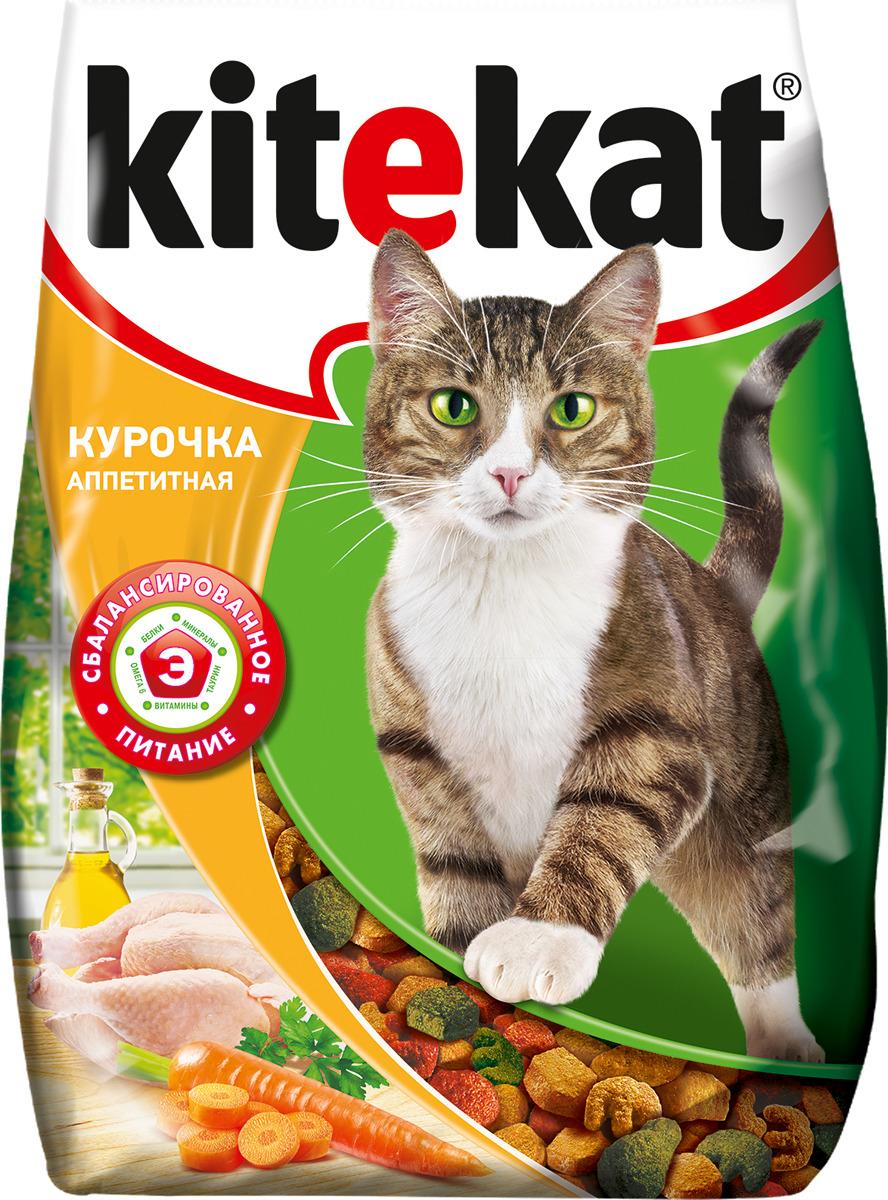 """Корм сухой для кошек """"Kitekat"""", курочка аппетитная, 350 г"""