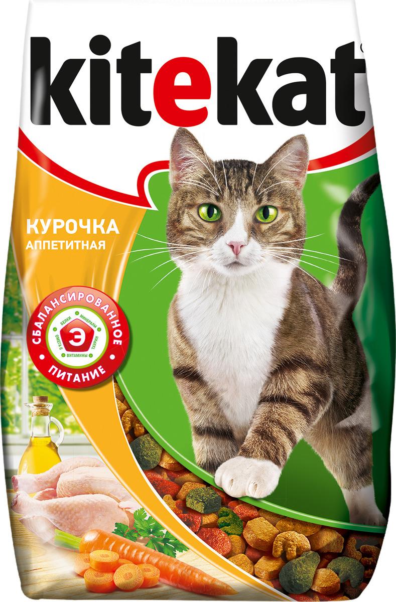 Корм сухой для кошек Kitekat, курочка аппетитная, 1,9 кг сухой корм kitekat телятинка аппетитная для кошек 15кг 10132155