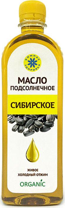 Подсолнечное масло Компас Здоровья Сибирское, нерафинированное, органик, 500 мл компас geonaute планшетный компас для спортивного ориентирования или походов explorer 500