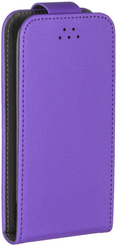 Чехол для смартфонов Flip Slide M , фиолетовый, Deppa цена и фото