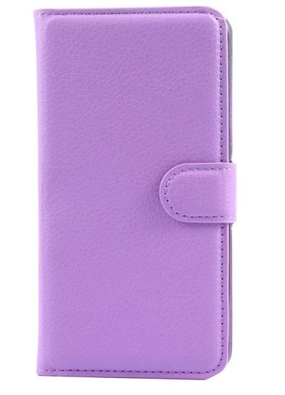 Чехол-подставка для смартфонов Wallet Slide M 4.3''-5.5', фиолетовый, Deppa стоимость