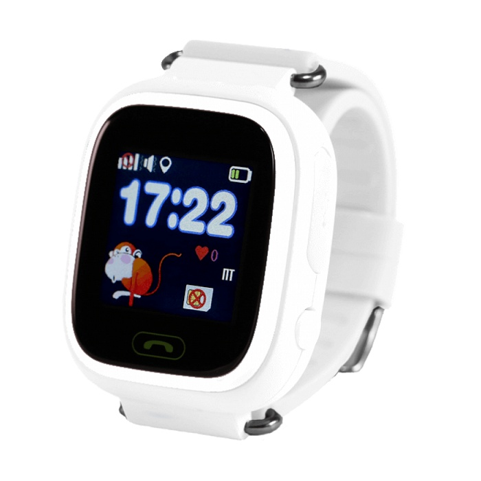 Часы Smart Baby Watch Q90 с сенсорным экраном - Белые q100 q750 smart watch phone baby children kids gps tracker 1 54 touch screen wifi location sos anti lost device safe pk q50 q90