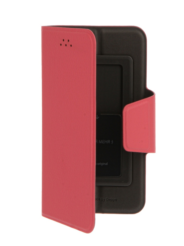 Чехол-подставка для смартфонов Wallet Slide S 3.5-4.3, розовый, Deppa