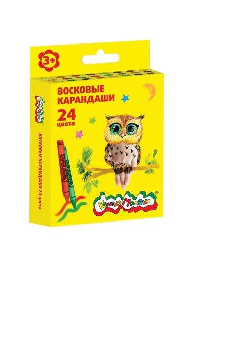 Фото - Восковые карандаши Каляка-Маляка 24 цвета круглые карандаши цветные каляка маляка 24 цвета
