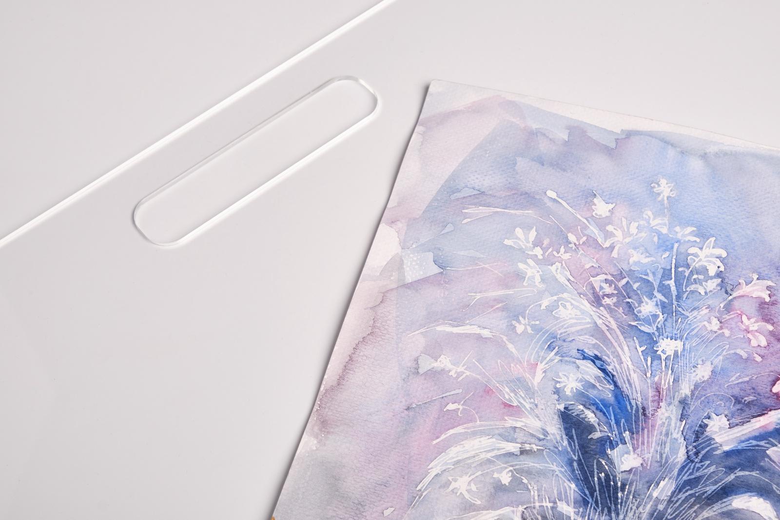 Прозрачный планшет для рисования из оргстекла картинка панцирные цепочки