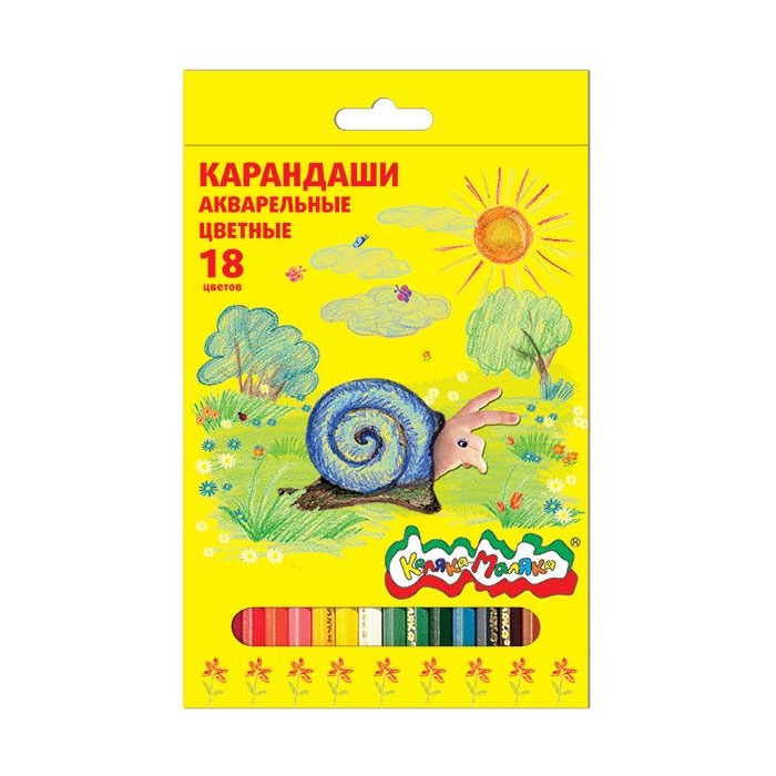 Фото - Карандаши акварельные Каляка-Маляка 18 цветов карандаши цветные каляка маляка 24 цвета