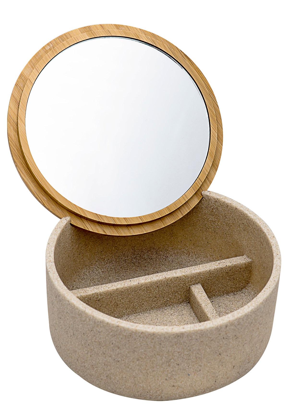 Шкатулка с зеркалом Superior бежевый