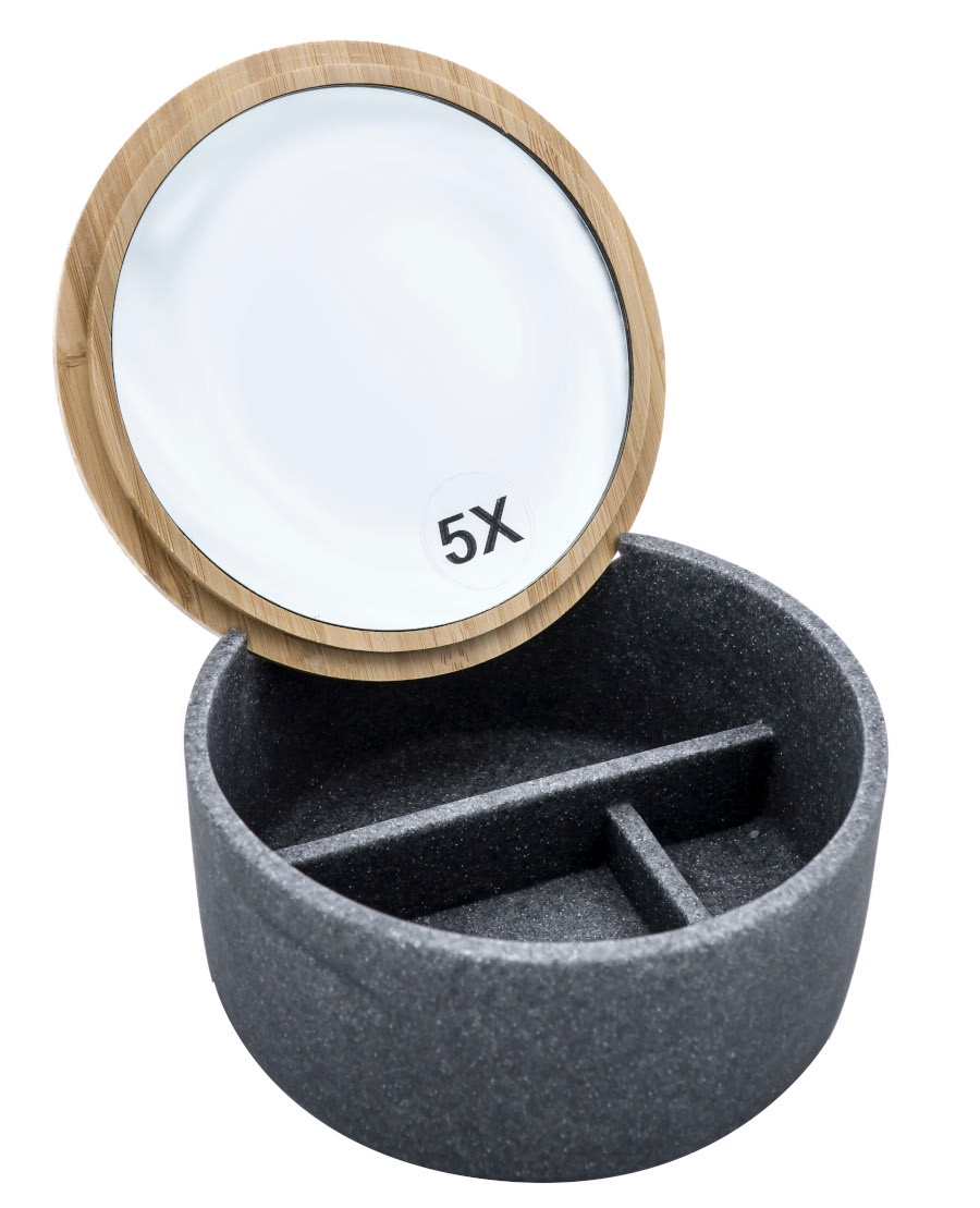 Шкатулка с зеркалом Superior серый