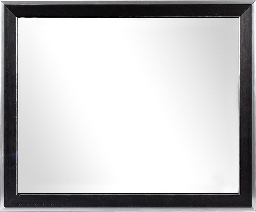 цена на Зеркало в багетной раме ХАЙТЕК 40х50см,черный/серебро