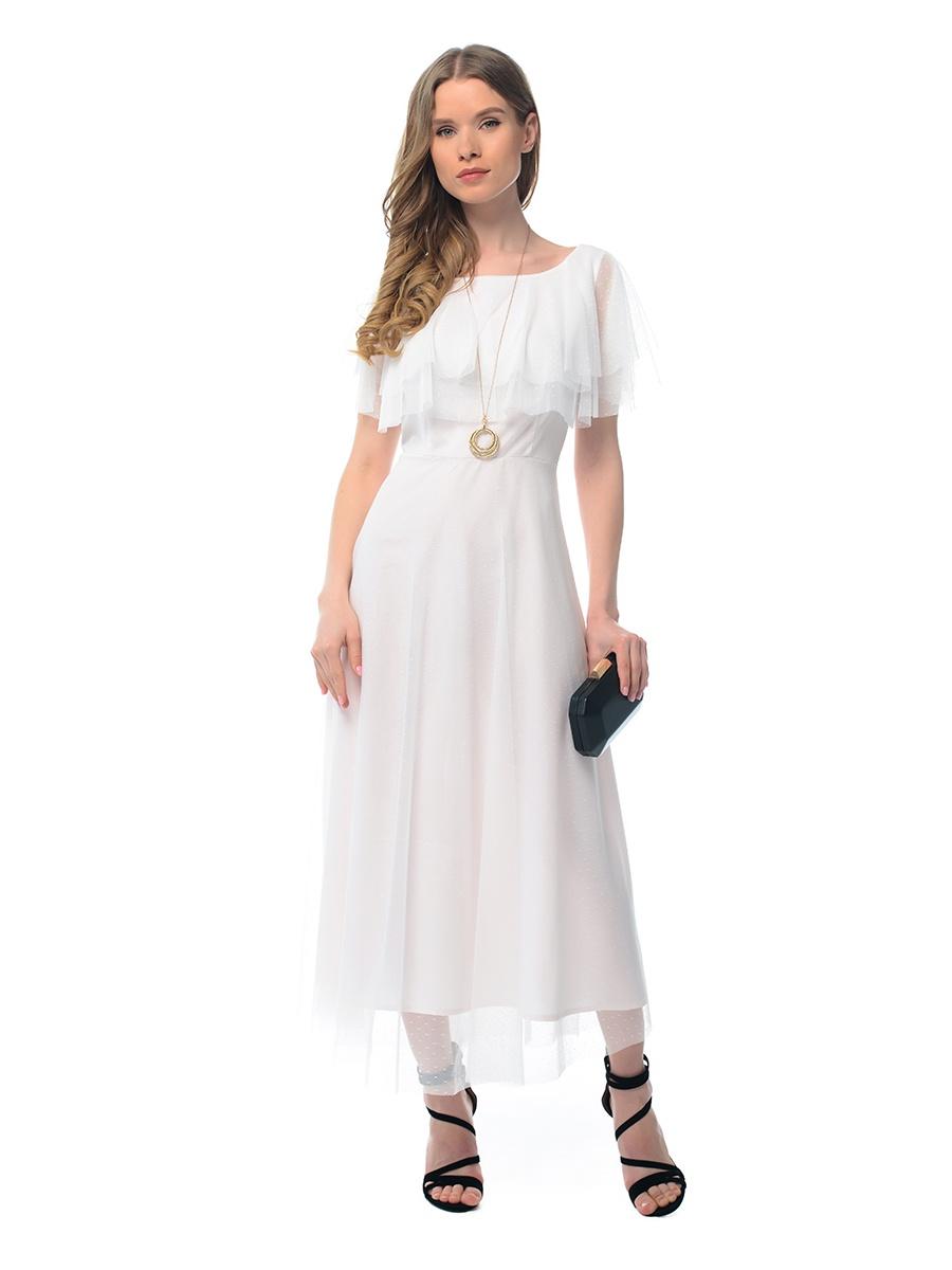 Платье GENEVIE розовое платье волан