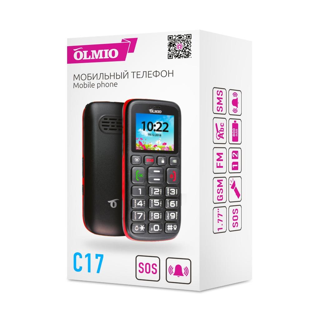 Мобильный телефон Olmio C17, для пожилых людей Olmio