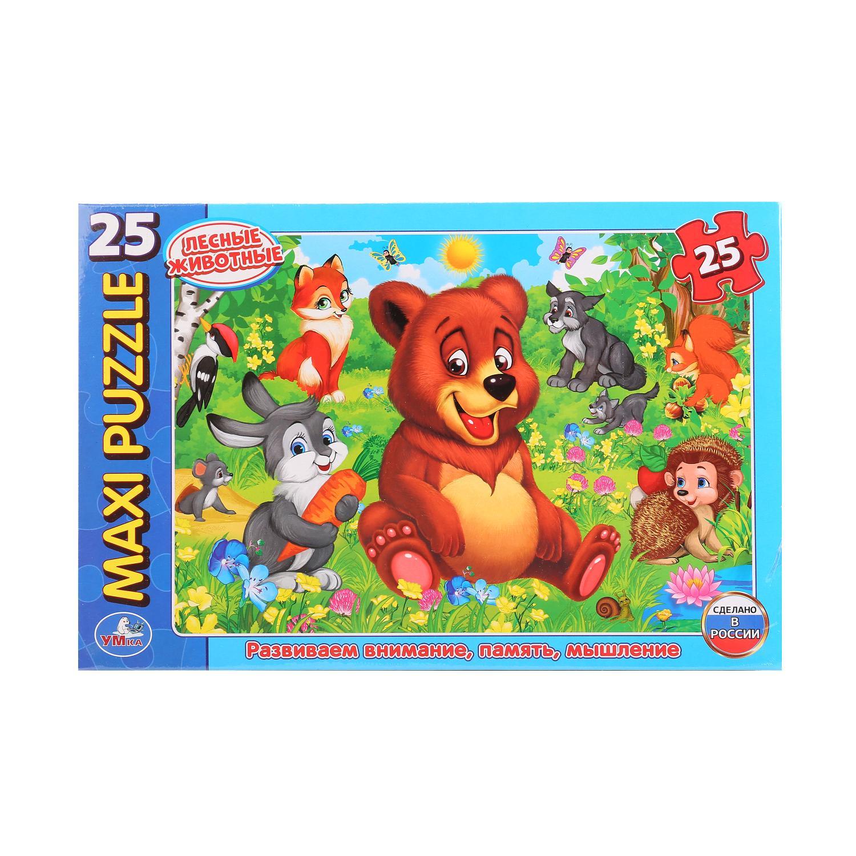 Макси-Пазл Лесные Животные. В Коробке 25 Деталей макси пазл умка домашние животные в коробке 25 деталей картон в кор 20шт