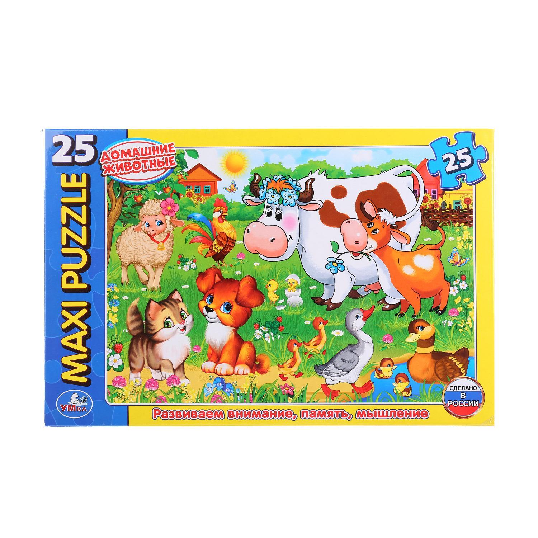 Макси-Пазл Домашние Животные. В Коробке 25 Деталей макси пазл умка домашние животные в коробке 25 деталей картон в кор 20шт
