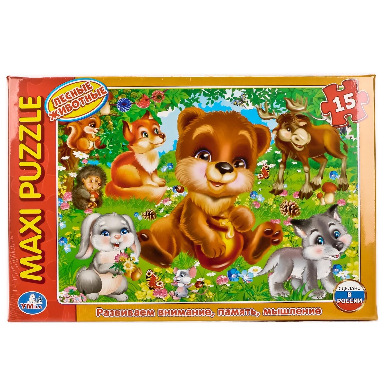 Макси-Пазл Лесные Животные. 15 Деталей krooom игрушки из картона пазл морские животные k 601