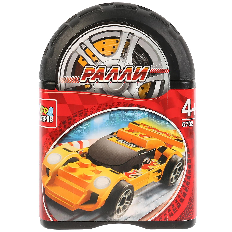Конструктор ралли: спорткар, 35 деталей в банке ludattica паззл с 3d фигурами ралли гран при