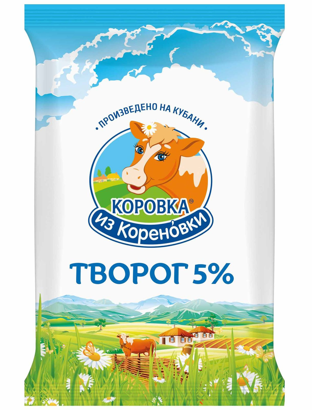 Творог Коровка из Кореновки, 5%, 180 г цены