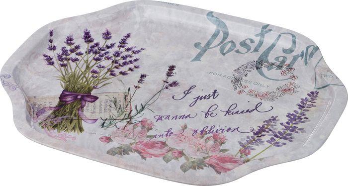 Поднос Agness Post Card, 913-106, 33 х 27 х 2 см поднос альтернатива витамины 49 33 2 5 см