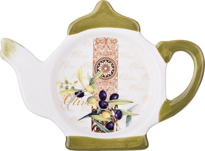 Подставка для чайных пакетиков Agness Оливки, 358-1015, 13 х 9 х 2 см подставка для чайных пакетиков loraine 12 4 х 9 см 2 шт