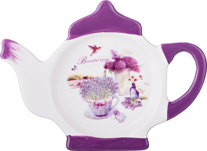 Подставка для чайных пакетиков Agness Лавандовая весна, 358-1099, 13 х 9 х 2 см