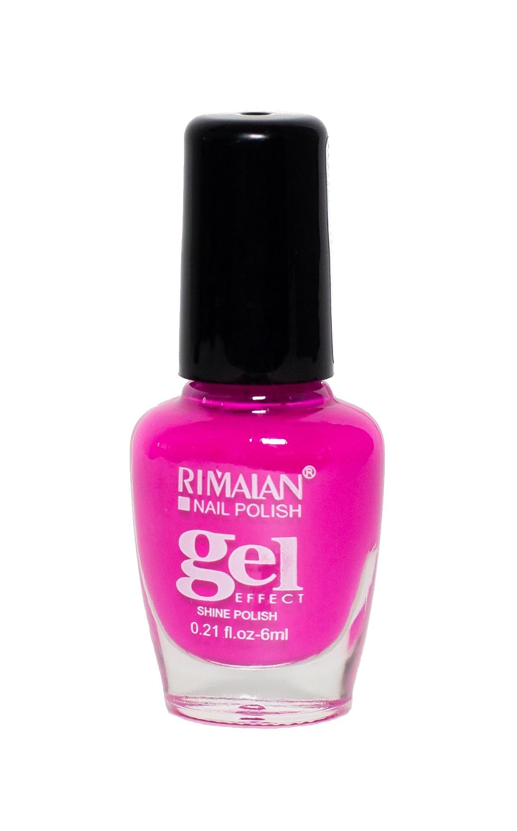 Rimalan 8012-21 Gel Effect Лак для ногтей 6мл 21 фуксия