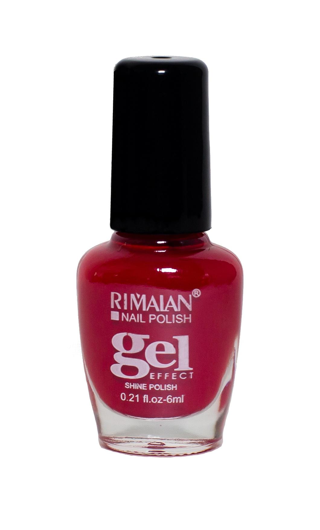 Rimalan 8012-38 Gel Effect Лак для ногтей 6мл 38 насыщенный красный