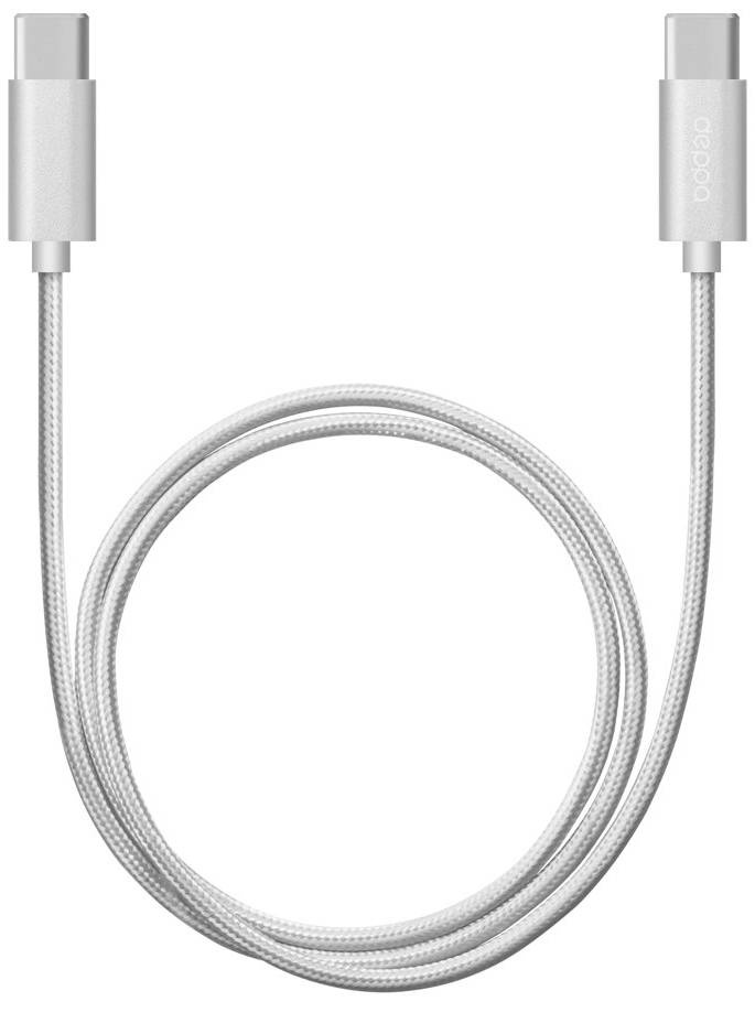 Кабель Deppa USB - USB Type-C 1.2m алюминий/нейлон (Серебро) цена