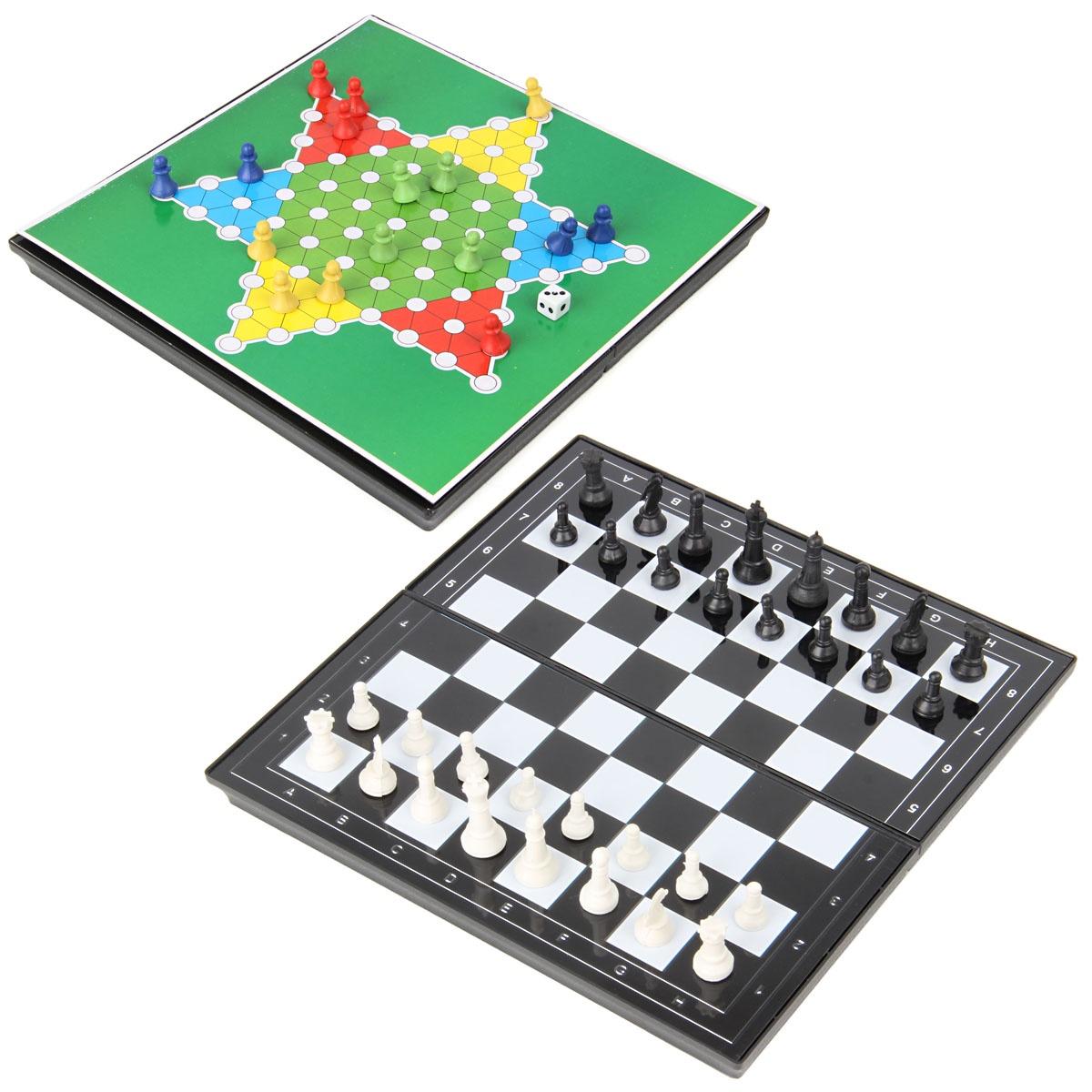 Настольные игры 2 в 1 настольные игры играем вместе магнитные шахматы 3 в 1 g049 h37005r