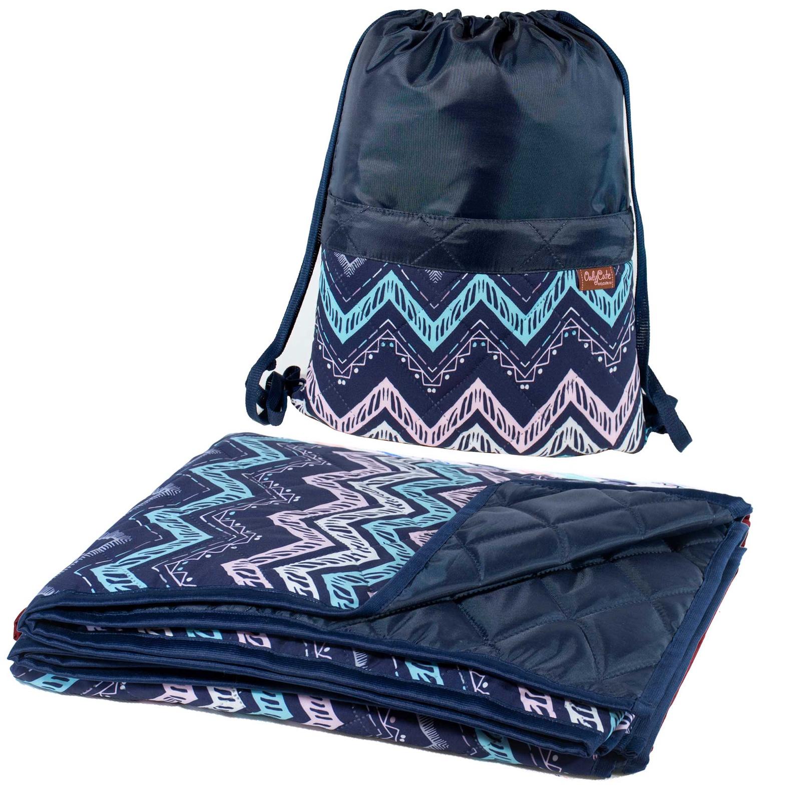 Коврик в рюкзаке OnlyCute Зигзаги синий