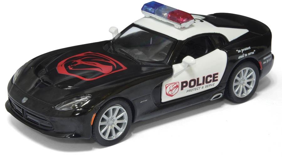 цена на Машинка металлическая с открывающимися дверями, модель 2013 SRT Viper GTS (Police)