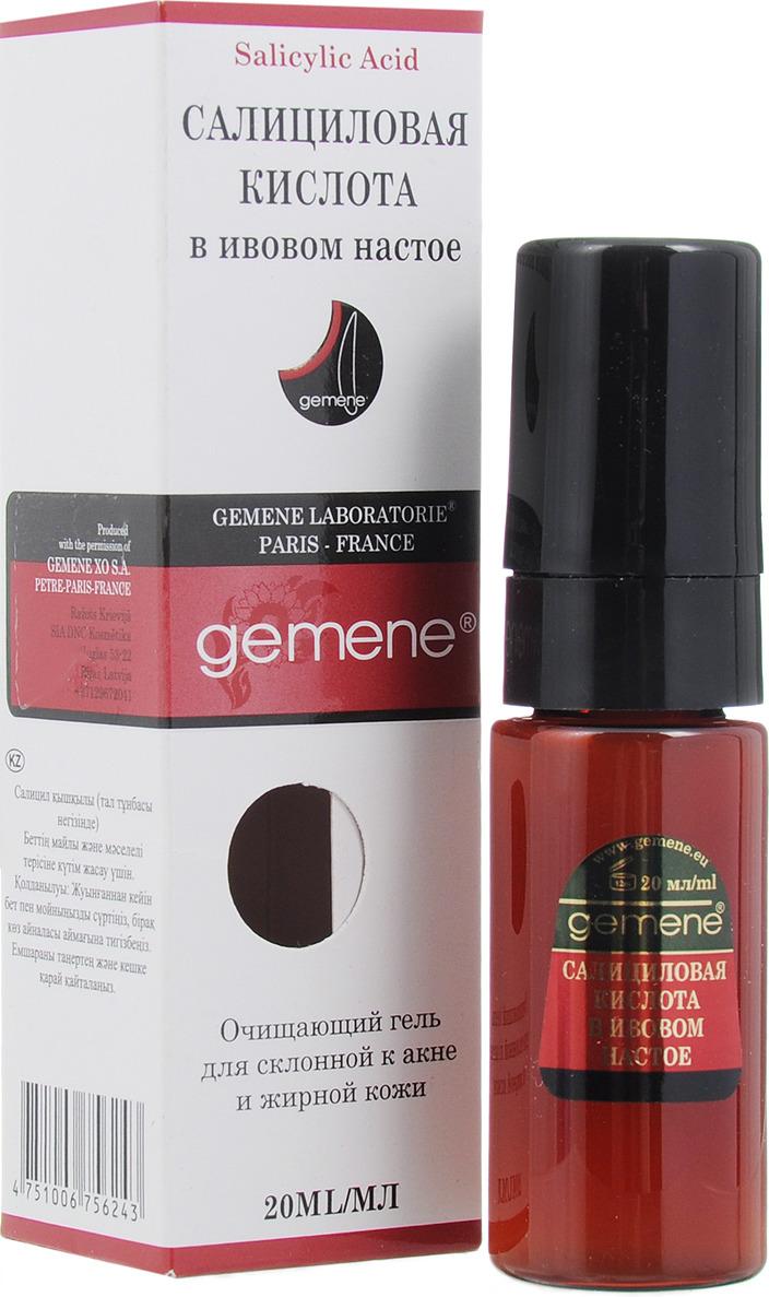 Gemene Гель косметический Салициловая кислота в ивовом настое, для лица, 20 мл салициловая кислота 20 мл gemene