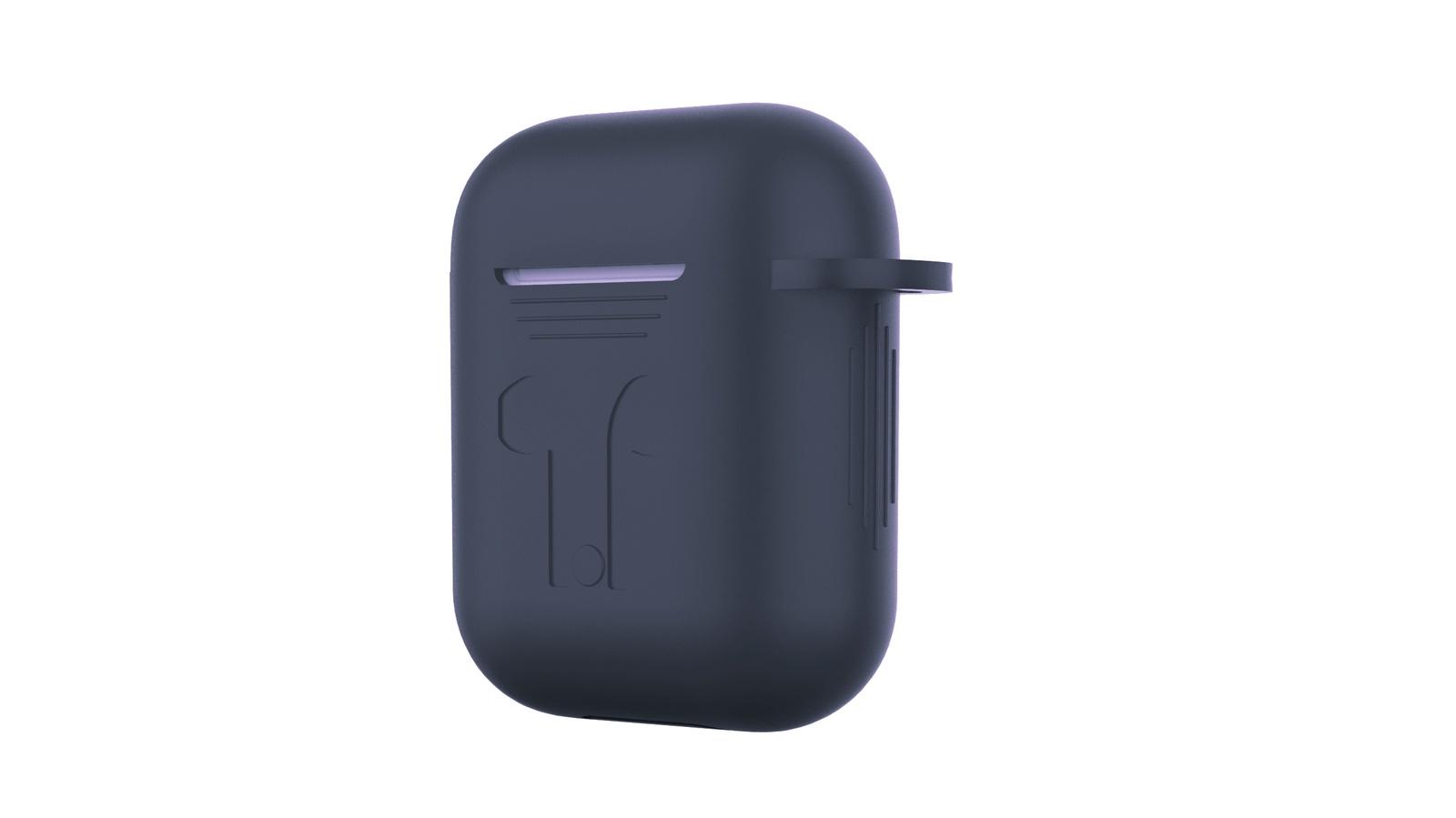 Фото - Чехол для наушников Devia Naked Silicone Case Suit для Apple AirPods, темно-синий беспроводное зарядное устройство 3 в 1 для смартфона apple watch apple airpods devia 18w