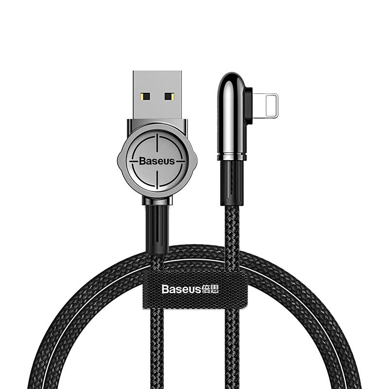 Кабель Baseus Exciting Mobile Game Cable USB For iPhone 2.4A 1m Black