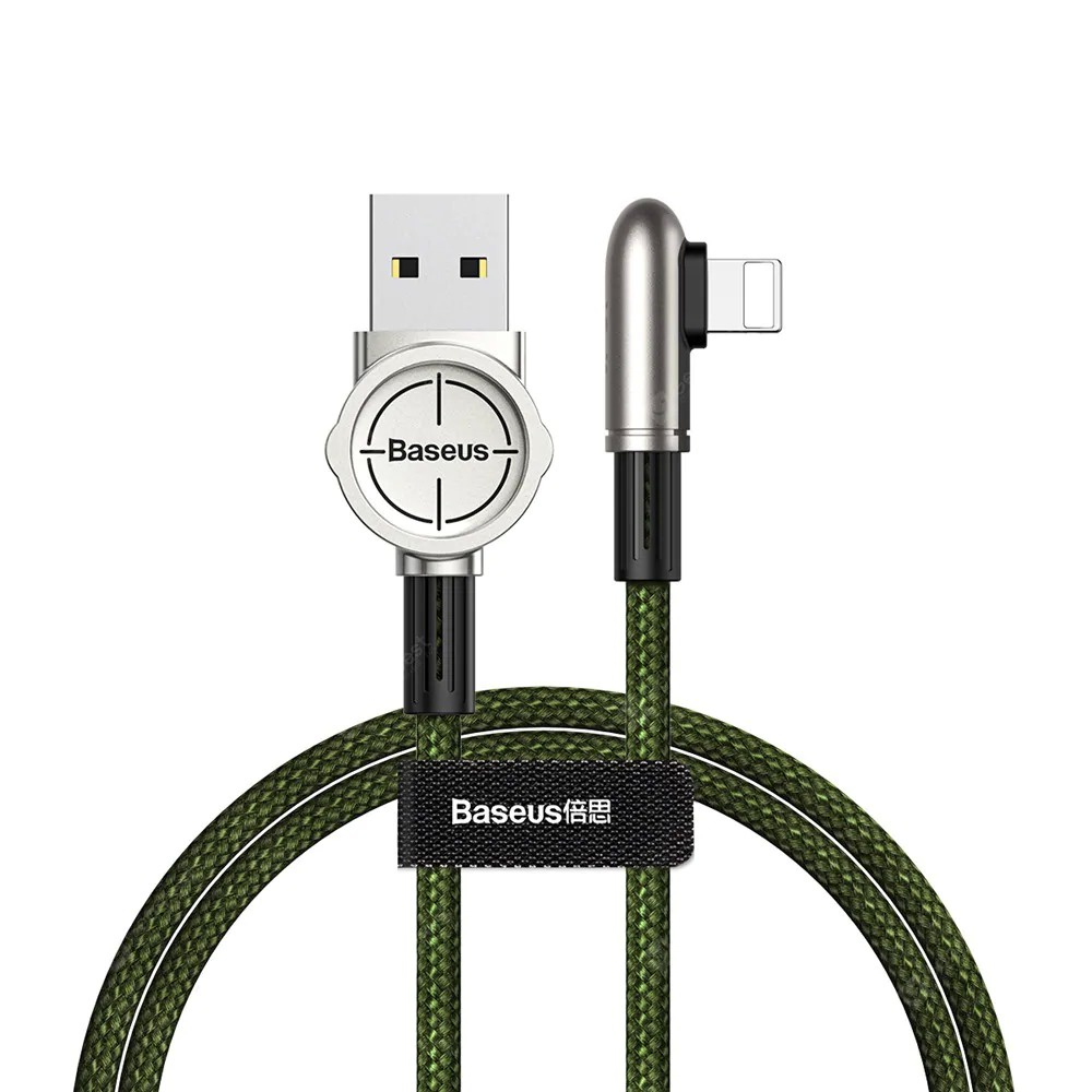 Кабель Baseus Exciting Mobile Game Cable USB For iPhone 2.4A 1m Green