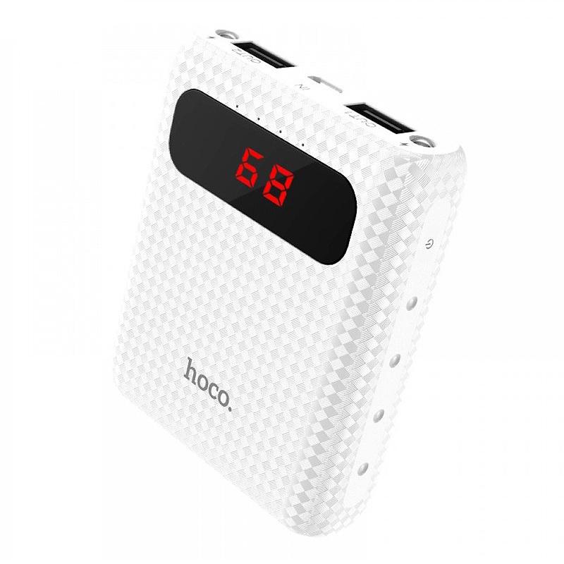 Внешний аккумулятор Hoco Power Bank B20 Mig Lcd белый