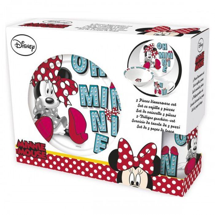 Набор посуды керамической в подарочной упаковке (№6, 3 предмета). Минни, арт. 78265 авент набор посуды от 6 мес арт 65680 scf716 00