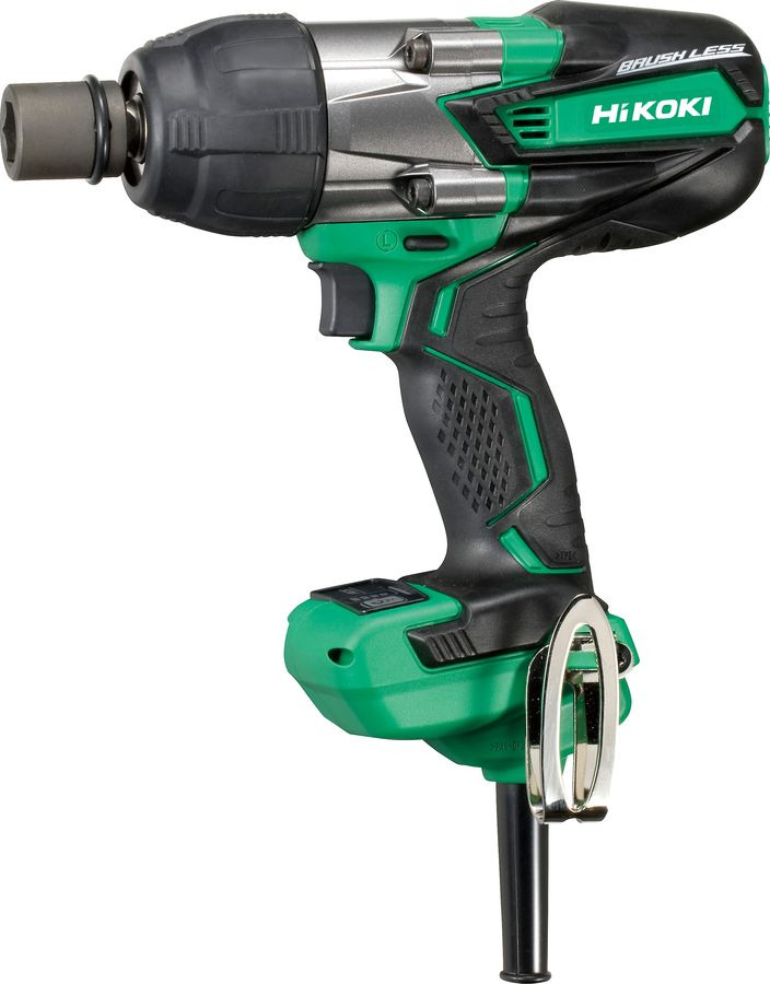 Гайковерт ударный HiKoki, HKK-WR14VE, зеленый, черный гайковерт ударный hitachi wr14ve